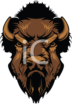 Royalty Free Clipart Image of a Buffalo