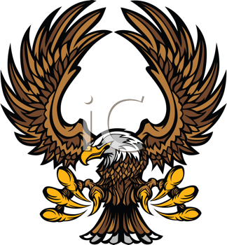 Royalty Free Clipart Image of an Eagle Mascot