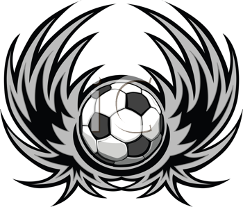 Royalty Free Clipart Image of a Soccer Logo