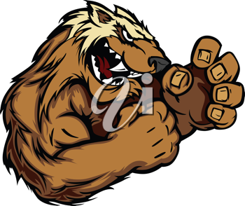 Royalty Free Clipart Image of a Wolverine
