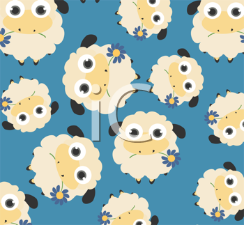 Royalty Free Clipart Image of a Background of Sheep
