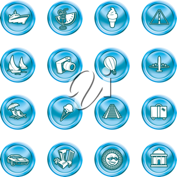 Royalty Free Clipart Image of Travel Icons