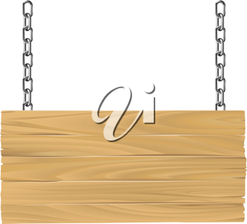 Royalty Free Clipart Image of a Wooden Sign