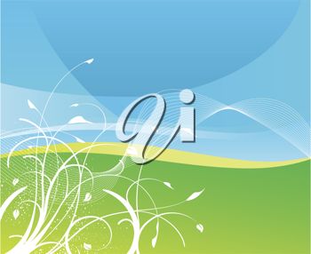 Royalty Free Clipart Image Of An Abstract Background With Grass And