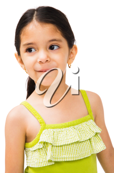 Royalty Free Photo of a Cute Young Girl Daydreaming