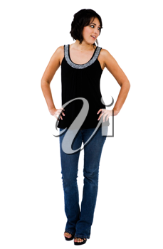 Royalty Free Photo of a Woman Modeling Clothing