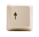 Arrow key isolated over white
