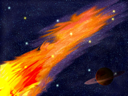 Royalty Free Clipart Image of a Flame in the Sky