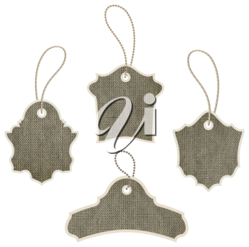 Royalty Free Clipart Image of a Set of Tags