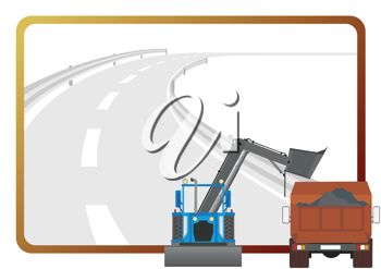 Royalty Free Clipart Image of Road Building Equipment