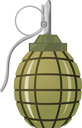 Hand grenade on a white background.