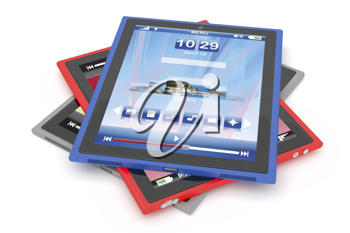 Royalty Free Clipart Image of a Tablet Computer