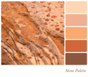 Stone background colour palette with complimentarty swatches.