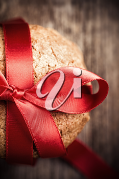 Royalty Free Photo of Cookies Tied With Red Ribon