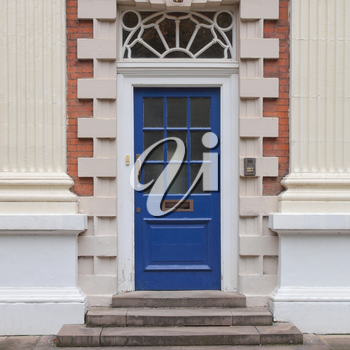 A traditional entrance door of a British house