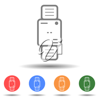 Smartwatch icon vector in the simple style