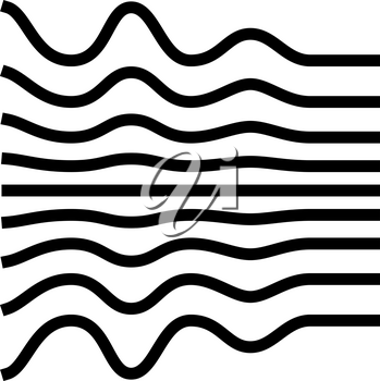 noise waves line icon vector. noise waves sign. isolated contour symbol black illustration