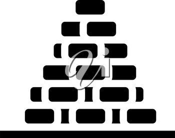 heap of peat glyph icon vector. heap of peat sign. isolated contour symbol black illustration