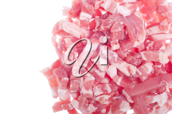 Royalty Free Photo of a Pile of Bacon Pieces