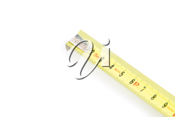 Royalty Free Photo of a Retractable Steel Tape Measure