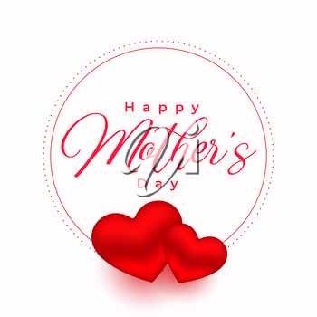mothers day red hearts poster background