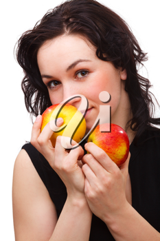 Royalty Free Photo of a Woman With Apples