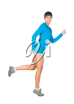 Royalty Free Photo of a Girl Running