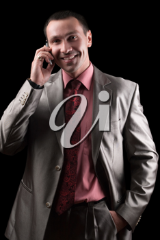 Royalty Free Photo of a Businessman on the Phone