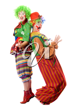 Royalty Free Photo of a Couple of Clowns