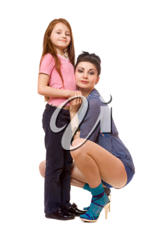 Royalty Free Photo of an Older Woman and Little Girl