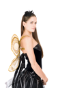 Royalty Free Photo of a Woman With Golden Wings