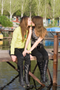 Royalty Free Photo of Two Girls Kissing