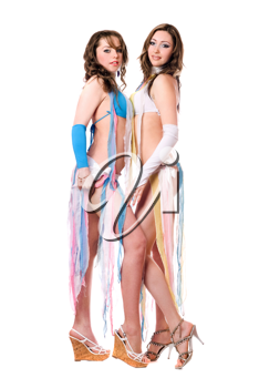 Royalty Free Photo of Two Women in Costume