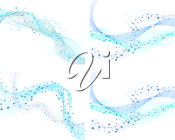 Royalty Free Clipart Image of a Set of Abstract Water Backgrounds