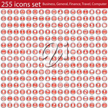 Biggest collection of different vector icons for using in web design