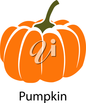 Pumpkin icon on white background. Vector illustration.
