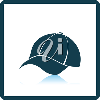 Baseball cap icon. Shadow reflection design. Vector illustration.