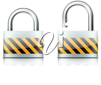 Royalty Free Clipart Image of Two Locks