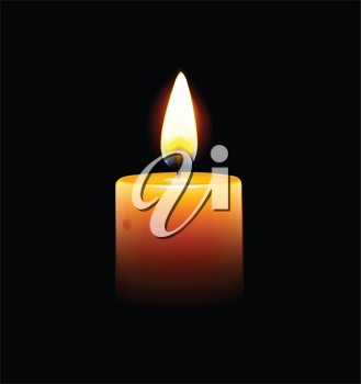 Royalty Free Clipart Image of a Candle