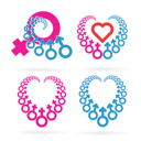 Royalty Free Clipart Image of Heart Symbols