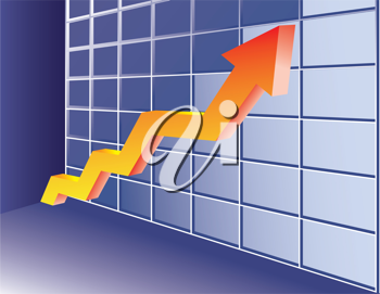 Growing trend arrow. Abstract business concept illustration.