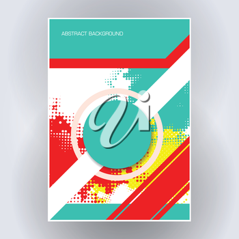 colorful poster flyer template abstract vector background