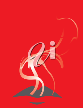 Royalty Free Clipart Image of Lips Exhaling Smoke