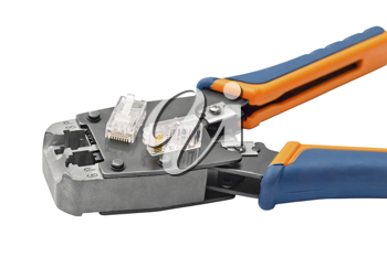 Royalty Free Photo of a Tool for Crimping Connectors
