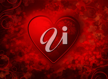 Royalty Free Clipart Image of a Valentines Day background