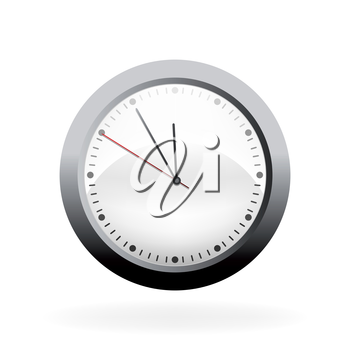 Vector clock isolated on a white background