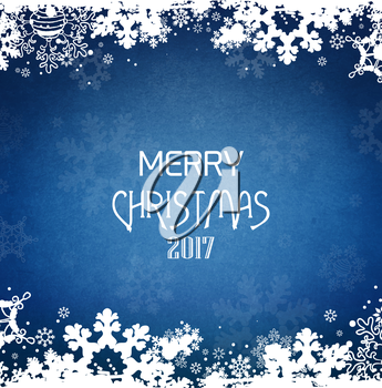 Winter Holiday Christmas And New Year Grunge Background With Title Inscription And Snow