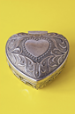 Royalty Free Photo of a Silver Ornate Heart