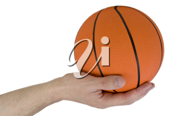 Royalty Free Photo of a Person Holding a Basketball