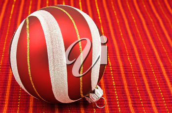 Royalty Free Photo of a Red Christmas Ornament